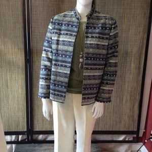 NWOT Alfred Dunner multi colored lined blazer.